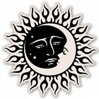 sun and moon celestial car vinyl sticker