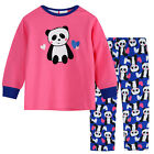New Pyjamas Girls Cotton Flannel (Sz 0-2) Pjs Set Pink Blue Panda