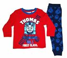 New Pyjamas Boys Winter Cotton Knit (Sz 1-4) Pjs Set Red Thomas The Tank Engine