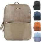 Fashion Vintage School Bag Rucksack Man Womans Faux Leather Backpack Travel Bags