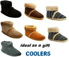 NEW MENS COOLERS FLUFFY GENTS MICROSUEDE WARM COSY ANKLE SLIPPER BOOTS SIZE 7-12