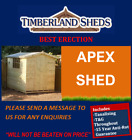 Garden Shed • 4 Pane Windows • Tanalised • Fully T&G  • Not Summerhouse  • Sheds