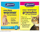 JOHNSONS ONE DOSE CAT & KITTEN WORMER/WORMING TABLETS, GRANULES NEW!