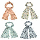 Ladies  Crinkle Butterfly Design Scarf choice of 4 different colours 90567