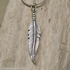FEATHER 3D  925 Sterling Silver Necklace Chain and Pendant #1905