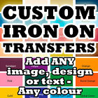 Custom Iron On T-Shirt Transfers Your Image Photo Design Personalised Hen Stag h