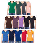 American Apparel - Ladies 50/50 T-shirts, S M L XL Poly Cotton Short Sleeve Tee