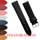 Genuine Leather Thin Watch Band Strap for Ladies and Mens Classic Fine Watches