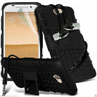 Shock Proof Dual Layer Heavy Duty Case Cover+Stereo Headphones for HTC