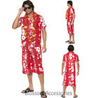CL755 Hawaiian Hunk Mens Luau Beach Hawaii Fancy Dress Up Summer Party Costume