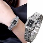 Women Luxury Stainless Steel Military Quartz Lady Crystal Bracelet Wrist Watch image