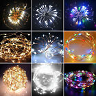 20/30/40 Led Battery Operated Silver Wire String Fairy Party Wedding Light