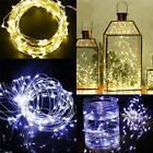 30/40 LEDs String Battery Operated 2M/3M/4M Copper Silver Wire Fairy Light Xmas
