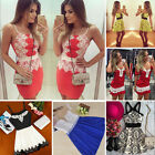 Sexy Women's Summer Casual Backless Party Evening Cocktail Lace Short Mini Dress
