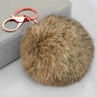 Super Soft Large 8CM Faux Rabbit Fur Pom Poms Ball Key Chain Handbag Charm