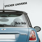 MASTER BAITER Funny Vinyl Die Cut Decal Sticker | Fishing Hunting Truck Sport