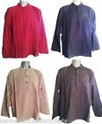 NEW 100% FAIRTRADE COTTON MENS STRIPED GRANDAD SHIRT FROM NEPAL ONLY £9.99
