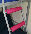 CERISE PINK Padded BunkBed Ladder Rung Covers*No-Tool Install*(Safe, Non Slip)