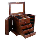 Wood Jewelry Cabinet Vintage Armoire Box Storage Chest Ring Necklace Organizer 2