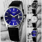 Fashion Luxury Leather Band Date Analog Quartz Sport Mens Wrist Watch @
