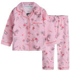 Pyjamas Girls Winter Flannel (Sz 3-7) Pjs Set Pink Paris Sz 3 4 5 6 7