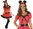 Ladies Red Missy Mouse Fancy Dress Costume Minnie Disney Outfit Womens UK 8-30