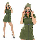 Ladies Aviator Girl Fancy Dress Costume Top Gun Pilot Outfit Womens UK 8-30