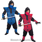 CK651 Complete Ninja Child Kids Boys Warrior Samurai Fighter Fancy Dress Costume