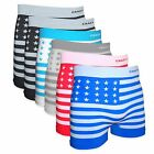 Crazy Cool Men Nylon Seamless Boxer Briefs Underwear 6-Pieces Pack