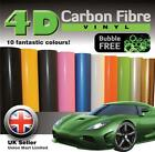 """4D Carbon Fibre Vinyl Wrap """"GLOSS"""" BUBBLE FREE """"Close to the Real Thing"""""""