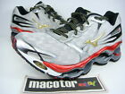 New Mizuno Wave Prophecy 2 Running Pro Shoes Mens Silver Red Gold 8KN-31650
