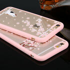 New Soft Clear Animal Sakura Frame Back Cover Case For iPhone 5 5S 6 6S 6 Plus
