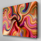 AB764 Modern rainbow psychedelic Canvas Wall Art Abstract Picture Large Print