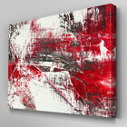 AB904 Modern blood red black white Canvas Wall Art Abstract Picture Large Print