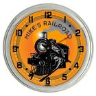 """Texas Longhorns 17"""" Yellow Personalized Neon Clock from R..."""