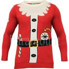 Christmas Santa Outfit Novelty Jumper Top  Mens Size