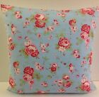 SINGLE CATH KIDSTON ROSALI FLORAL FABRIC BLUE CUSHION COVERS SHABBY CHIC-STYLE