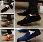 NEW British Men's Casual Lace Slip On Loafer Shoes Moccasins Driving Shoes