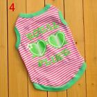 Cute Pet Clothes Puppy Dog Cat Vest T Shirt Coat Dress Apparel Various  Necklace