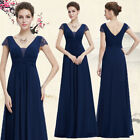 Ever pretty Women's V-neck Short Sleeve Long Evening Party Formal Dress 08787