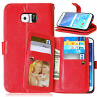 Retro 9 Card Holder Stand Photo Slot Wallet Case Cover for Samsung Galaxy J1