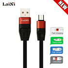 LaiXi Aliuminum Alloy Case USB Fast Charging Sync Cable for Android SmartPhone