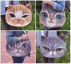 Funny Cat Face Print Womens Zipper Bags Fashion Shoulder Tote Bag Handbags - CB