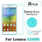 """2x Real Premium Tempered Glass Film Screen Protector Guard For 5"""" Lenovo A5000"""