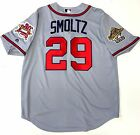 JOHN SMOLTZ ATLANTA BRAVES 1995 WORLD SERIES COOL BASE ROAD REPLICA JERSEY
