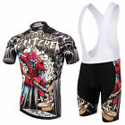 Cartoon Cycling Jersey and (Bib) Shorts Set MTB Clothes Men's Cycling Kit S-XXXL