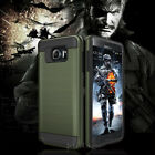 Samsung GALAXY S7 edge S7 Armor Rubber Rugged Case Cover With Screen Protector