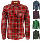Ladies Womens Check Tartan Shirt Long Sleeve Button Down Lumberjack Blouse Top