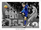 JAMIE VARDY SIGNED PRINT POSTER PHOTO 2015 2016 LEICESTER CITY VOLLEY MAHREZ