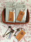Vintage Style Keyring - 10p extra postage for each additional (UK)